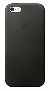 APPLE iPhone SE Leather Case - Black (mmhh2zm/a)