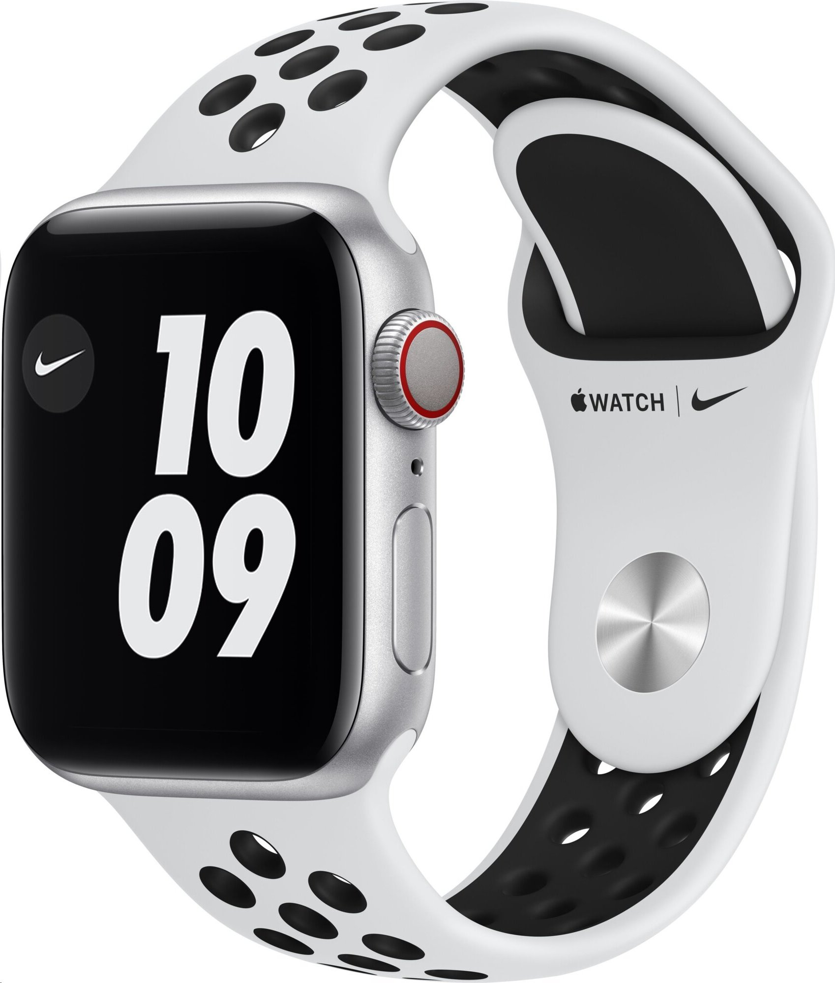 APPLE Watch Nike Series 6 GPS+Cellular,40mm Silver Aluminium Case with Pure Platinum/Black Nike Sport Band