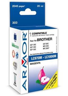 ARMOR cartridge pro BROTHER DCP-130/330 Magenta (LC-1000M) - alternativní