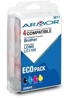 ARMOR cartridge pro BROTHER DCP 145/6690 CMYK - multipack (LC980/LC1100) - alternativní