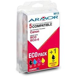 ARMOR cartridge pro CANON iP3000 multipack 2B+1C+1M+1Y (BCI3BK, BCI6CMY) - alternativní