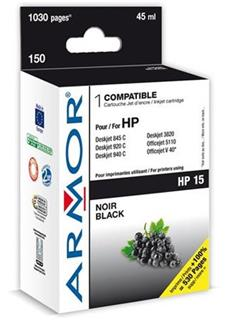 ARMOR cartridge pro HP 15 DJ 810C/840C/920C/940C Black (C6615D) - alternativní