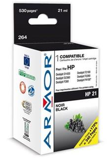 ARMOR cartridge pro HP 21 DJ 3840 Black 21ml (C9351AE) - alternativní