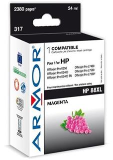 ARMOR cartridge pro HP 88XL Officejet K550 magenta HC,20 ml, (C9392A) - alternativní
