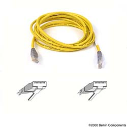 Belkin kabel PATCH UTP CAT5e CROSS 5m šedý/žlutý, bulk