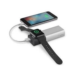 Belkin powerbanka 6700mAh pro Apple Watch + 1xUSB-A port pro iPhone, stříbrná