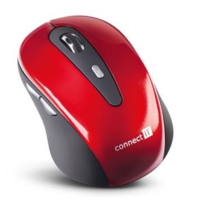 CONNECT IT CI-152 bezdrátová optická myš - červená