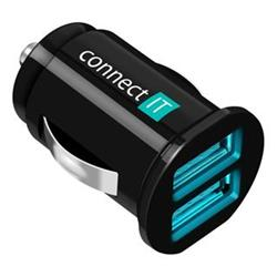 Connect IT USB auto adaptér 2xUSB 2.1A a 1A