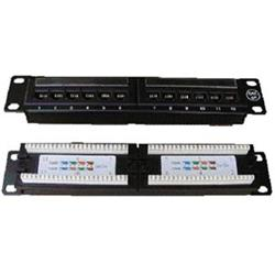 "DATACOM PATCH PANEL 10"" 12p. UTP cat.5e 1U"