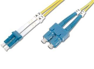 DIGITUS Fiber Optic Patch Cord, LC to SC Singlemode 09/125 µ, Duplex Length 10m