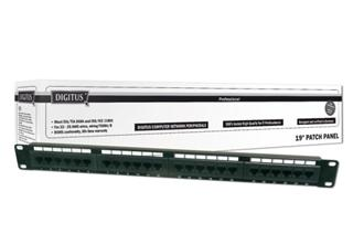 "Digitus Patch Panel, CAT5E, nestíněný, 19"", 24 port"