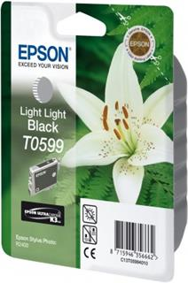 Epson T0599 Light Light Black Ultra Chrome K3 13ml pro Stylus Photo R2400 - originální