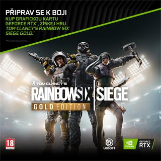 GeForce RTX Bundle - kód k získání hry Tom Clancy's Rainbow Six® Siege Gold Edition