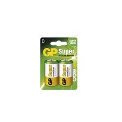 GP baterie Super Alkaline LR20 (D, velké mono) blister, 2 kusy