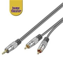Home Theater HQ Kabel Jack 3,5mm - 2x CINCH, M/M, 1,5m