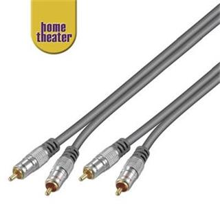 Home Theater Propojovací HQ 2x CINCH RCA - 2x CINCH RCA kabel 1,5m M/M