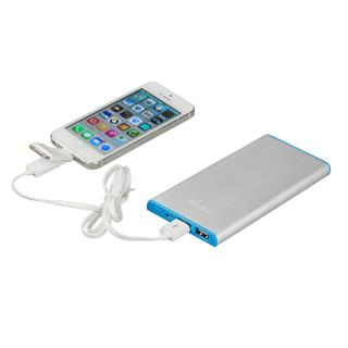 i-tec Metal Power Bank 8000 mAh Li-pol externí baterie pro iPhone, iPad, iPod, Samsung, Smartphone, Android, GPS, USB kabel 3-v-1