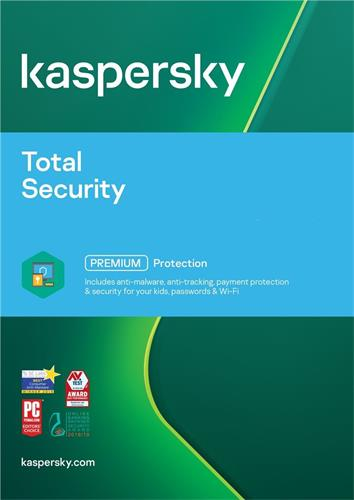 Kaspersky Total Security multi-device 2017 CZ, 5 lic., 1 rok, nová licence, elektronicky KL1919XCEFS