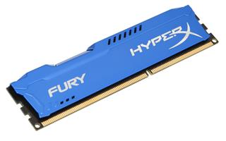 Kingston HyperX Fury 4GB 1600MHz DDR3 CL10 (10-10-10-30), modrý chladič