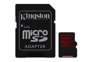 Kingston Micro SDXC 128GB (SDCA3/128GB) UHS-I Class 3 (čtení/zápis; 90/80MB/s + adapt)
