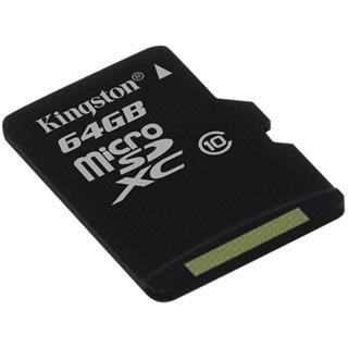 Kingston SDCX10/64GB MicroSDXC 64GB class 10, 30MB/s, UHS-1, dozivotni zaruka + SD adaptér
