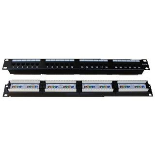 "NE PATCH PANEL 19"" 24 x RJ45 Cat.6 1U - plast.modul"