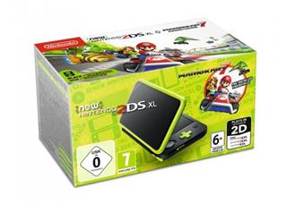 New Nintendo 2DS XL Black&Lime Green + MarioKart 7