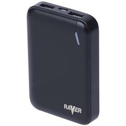 Power bank RAVER 6600mAh černý