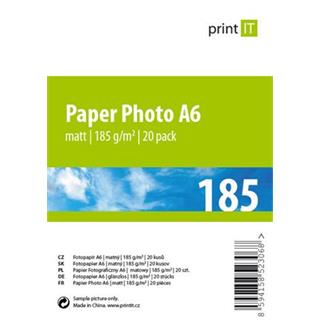 Print IT papír Photo A6 185 g/m2 Mate 20pck/BAL