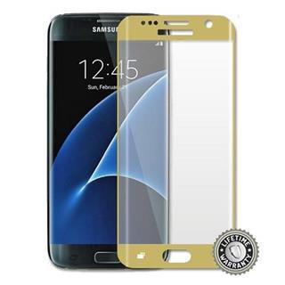 ScreenShield Tempered Glass na displej pro Samsung Galaxy S7 edge (SM-G935), zlatá (displej)