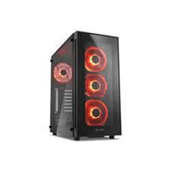 SHARKOON TG5 red ATX MidiTower červená