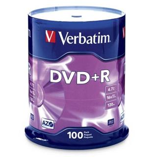 Verbatim DVD+R 4,7GB 16x SPINDL (100pack)