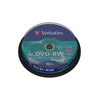 Verbatim DVD-RW 4,7GB 4x spindl (10-pack)